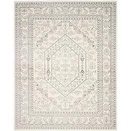 Adirondack Winston Ivory / Silver 8 ft. x 10 ft. Indoor Area Rug