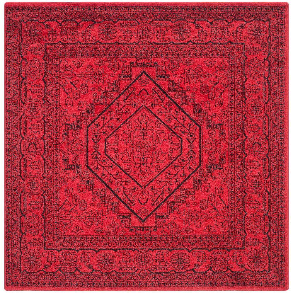 Safavieh Adirondack Winston Red / Black 4 ft. x 4 ft. Indoor Square Area Rug