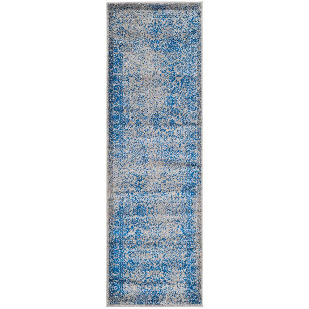 Safavieh Carpette d'intérieur, 2 pi 6 po x 10 pi, style traditionnel, gris Adirondack