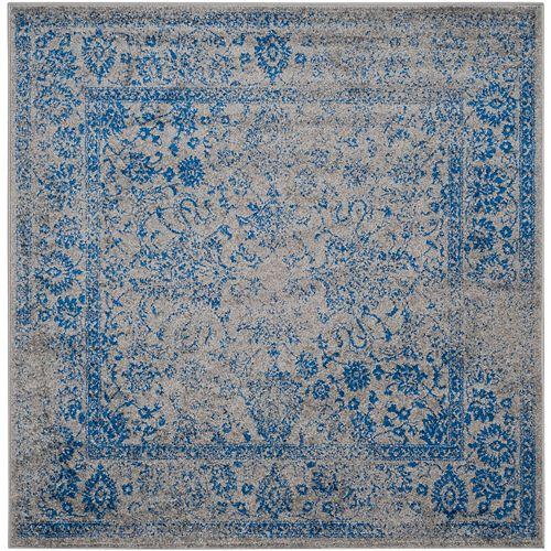 Safavieh Adirondack Mackenzie Grey / Blue 6 ft. x 6 ft. Indoor Square Area Rug