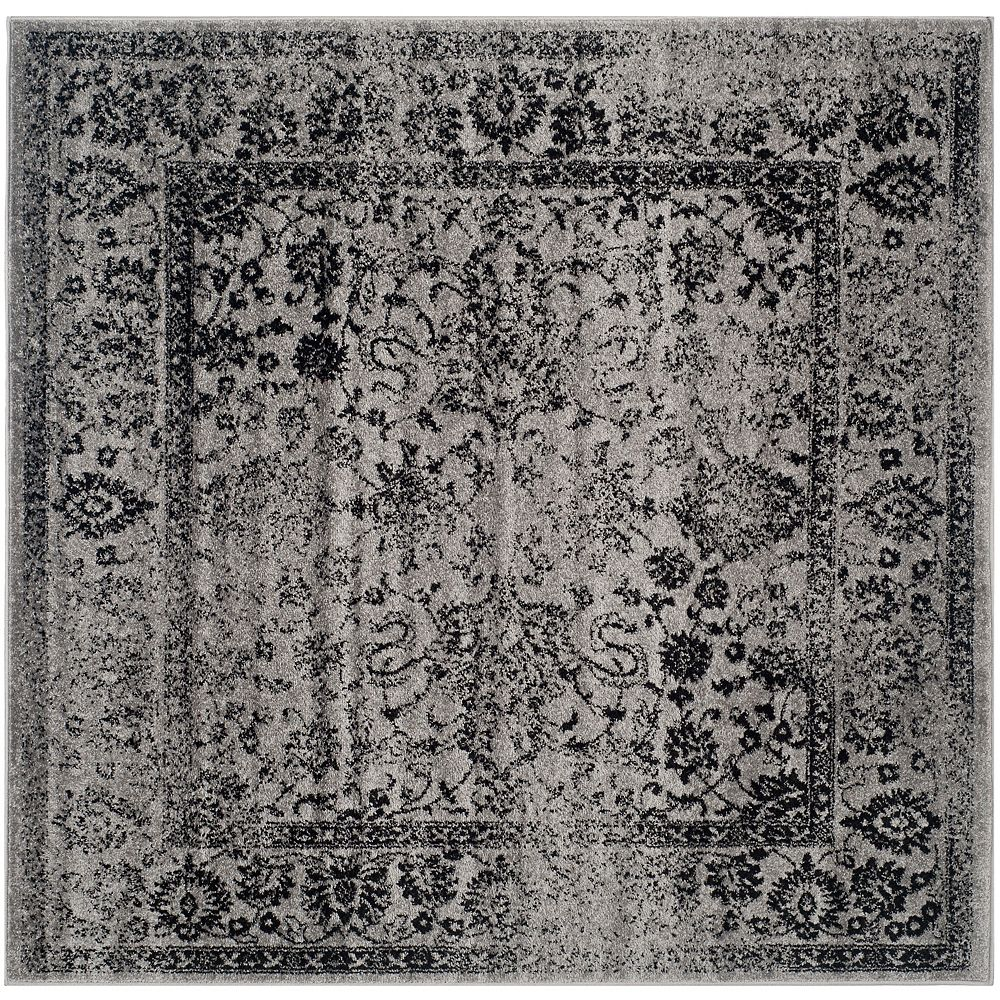 Safavieh Adirondack Mackenzie Grey / Black 4 ft. x 4 ft. Indoor Square Area Rug