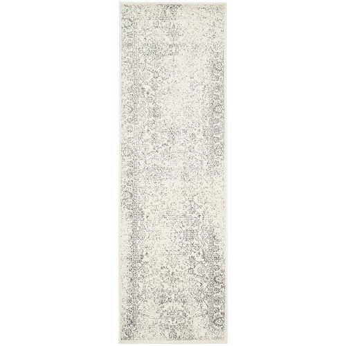 Adirondack Mackenzie Ivory / Silver 2 ft. 6 inch x 6 ft. Indoor Runner