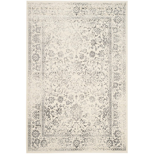 Adirondack Mackenzie Ivory / Silver 5 ft. 1 inch x 7 ft. 6 inch Indoor Area Rug
