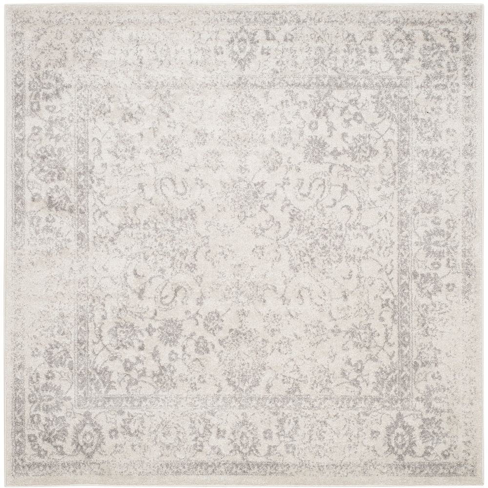 Safavieh Adirondack Mackenzie Ivory / Silver 6 ft. x 6 ft. Indoor Square Area Rug