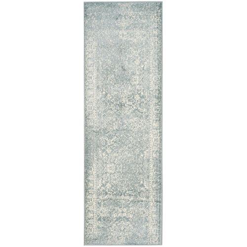 Adirondack Mackenzie Slate / Ivory 2 ft. 6 inch x 6 ft. Indoor Runner