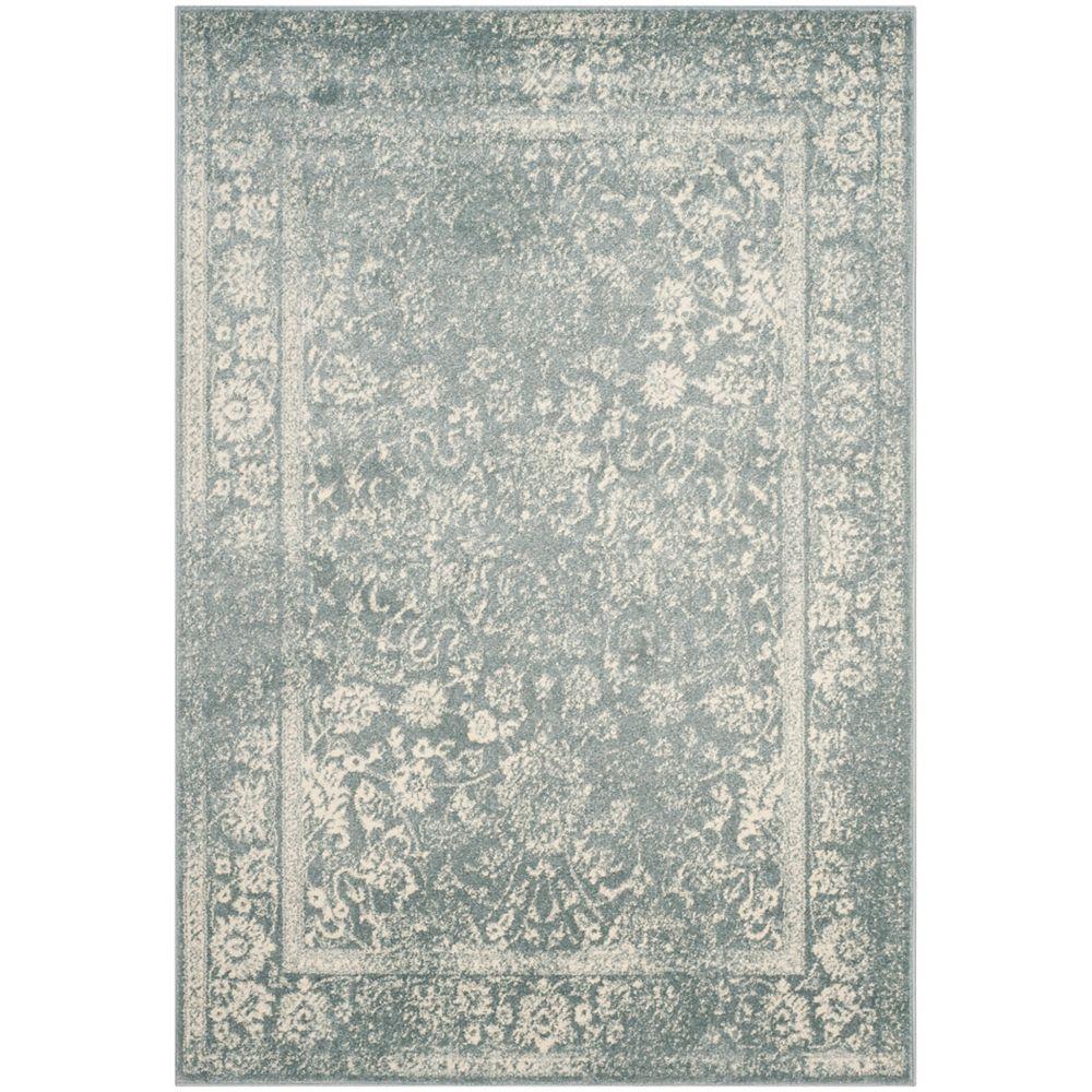 Safavieh Carpette d'intérieur, 5 pi 1 po x 7 pi 6 po, style traditionnel, rectangulaire, bleu Adirondack