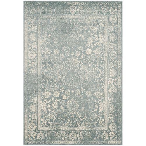 Adirondack Mackenzie Slate / Ivory 5 ft. 1 inch x 7 ft. 6 inch Indoor Area Rug