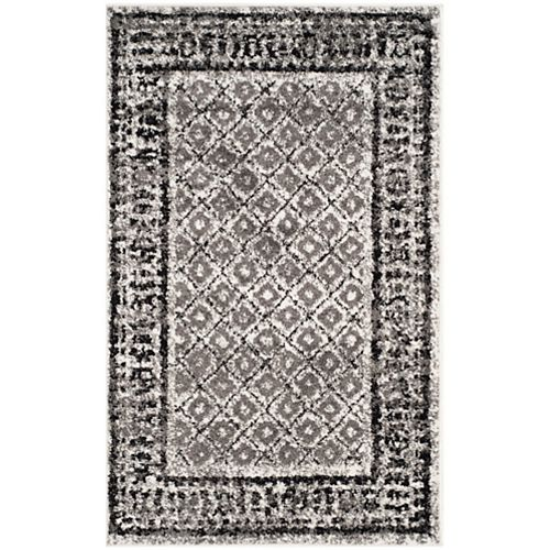 Safavieh Adirondack Luther Ivory / Silver 2 ft. 6 inch x 4 ft. Indoor Area Rug