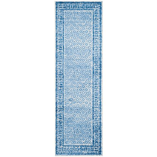 Safavieh Adirondack Luther Silver / Blue 2 ft. 6 inch x 12 ft. Indoor Runner