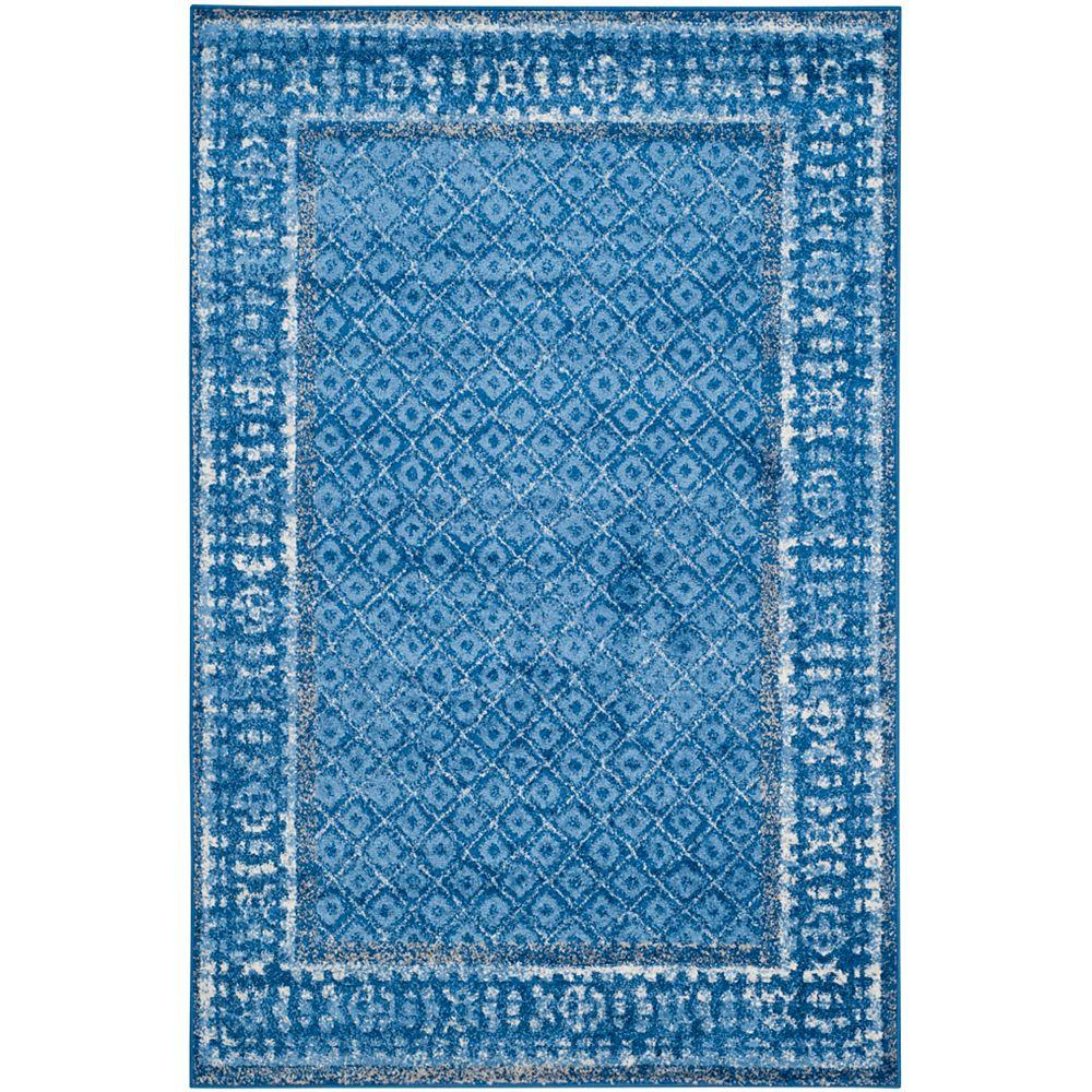 Safavieh Adirondack Luther Light Blue / Dark Blue 5 ft. 1 inch x 7 ft. 6 inch Indoor Area Rug
