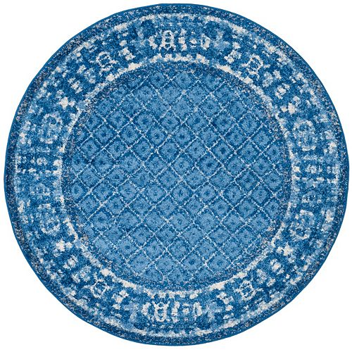 Safavieh Adirondack Luther Light Blue / Dark Blue 8 ft. x 8 ft. Indoor Round Area Rug