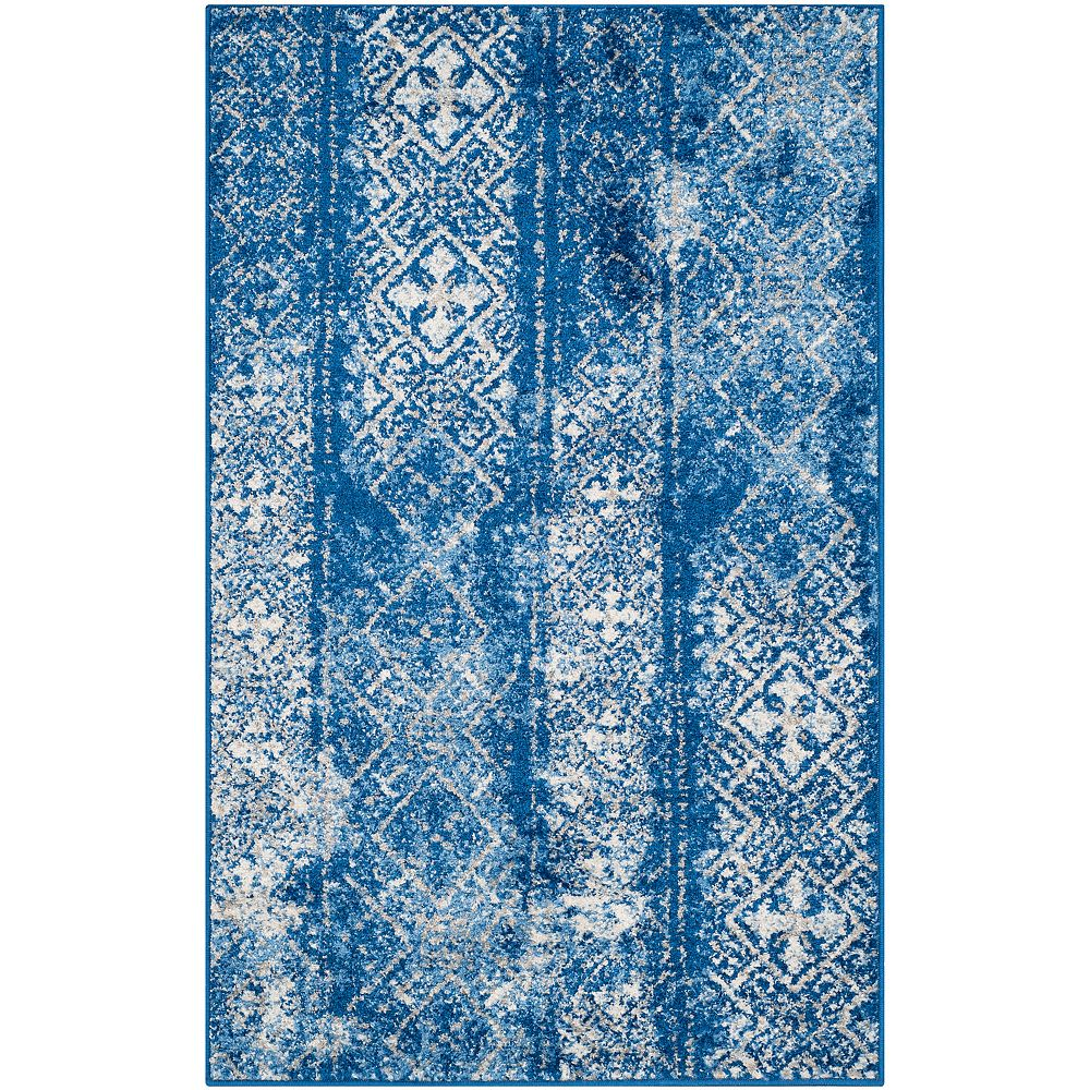 Safavieh Adirondack Carlie Silver / Blue 3 ft. x 5 ft. Indoor Area Rug