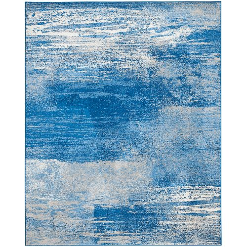 Adirondack Lance Silver / Blue 8 ft. x 10 ft. Indoor Area Rug