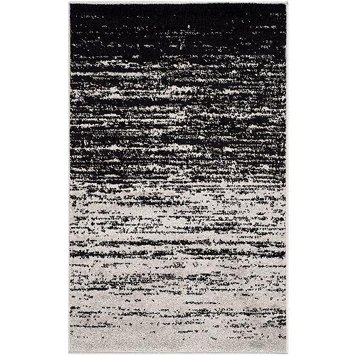 Safavieh Adirondack Brian Silver / Black 2 ft. 6 inch x 4 ft. Indoor Area Rug