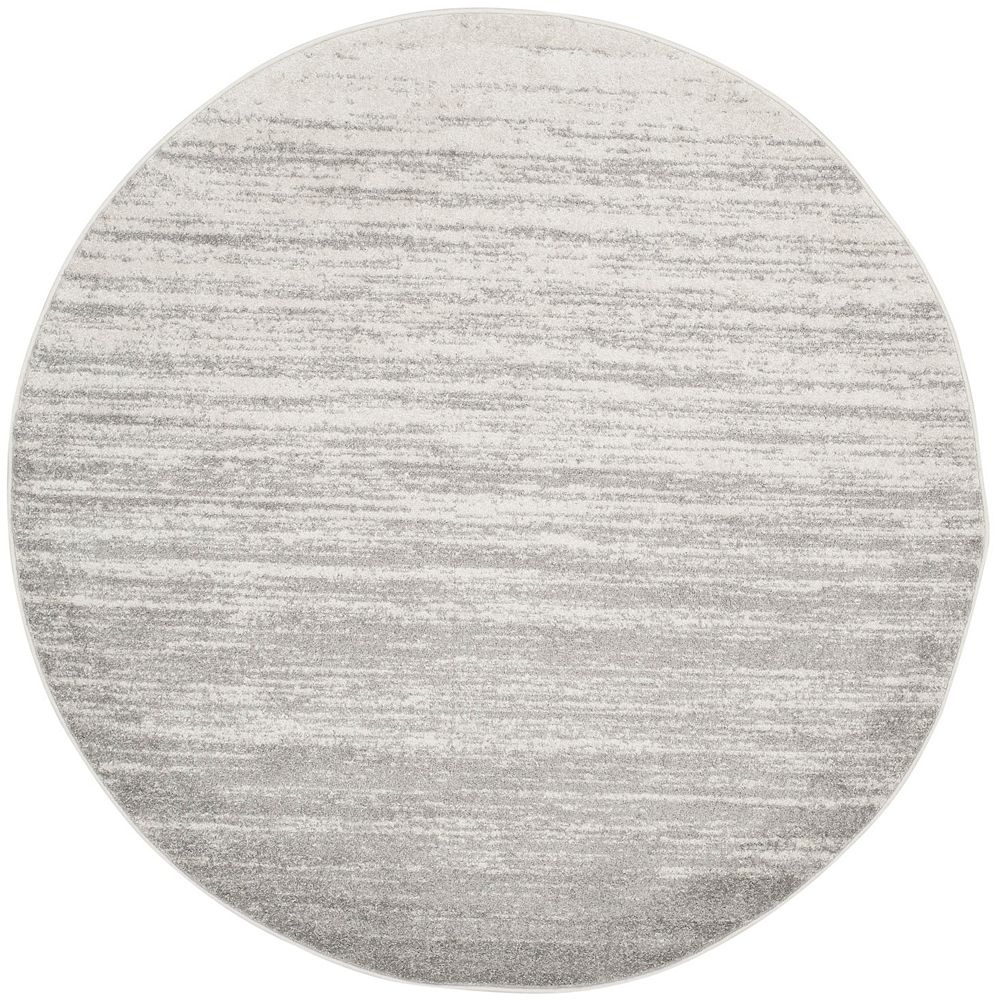 Safavieh Adirondack Brian Ivory / Silver 5 ft. x 5 ft. Indoor Round Area Rug