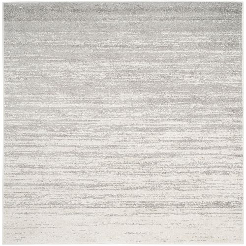 Adirondack Brian Ivory / Silver 8 ft. x 8 ft. Indoor Square Area Rug