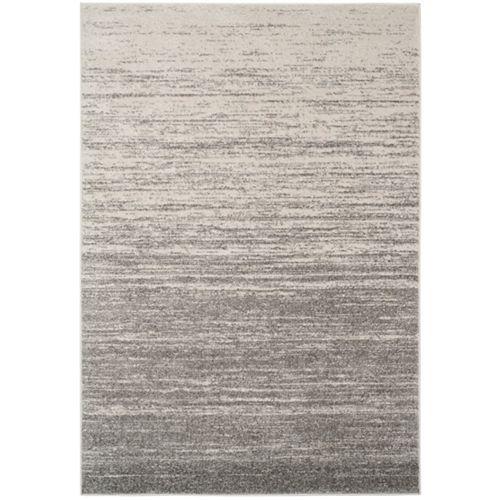 Carpette d'intérieur, 9 pi x 10 pi, style contemporain, rectangulaire, gris Adirondack