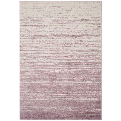 Safavieh Carpette d'intérieur, 9 pi x 10 pi, style contemporain, rectangulaire, violet Adirondack