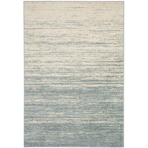 Carpette d'intérieur, 5 pi 1 po x 7 pi 6 po, style contemporain, rectangulaire, bleu Adirondack