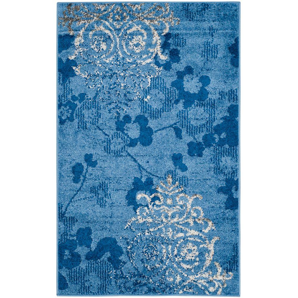 Safavieh Adirondack Roslyn Light Blue / Dark Blue 2 ft. 6 inch x 4 ft. Indoor Area Rug
