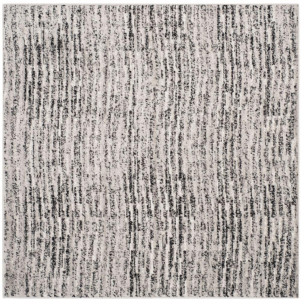 Safavieh Carpette d'intérieur, 6 pi x 6 pi, style contemporain, carrée, noir Adirondack