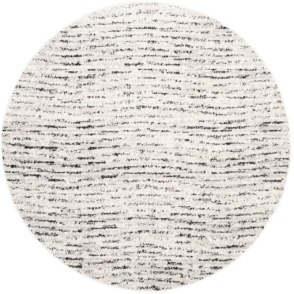 Safavieh Carpette d'intérieur, 6 pi x 6 pi, style contemporain, ronde, argent Adirondack