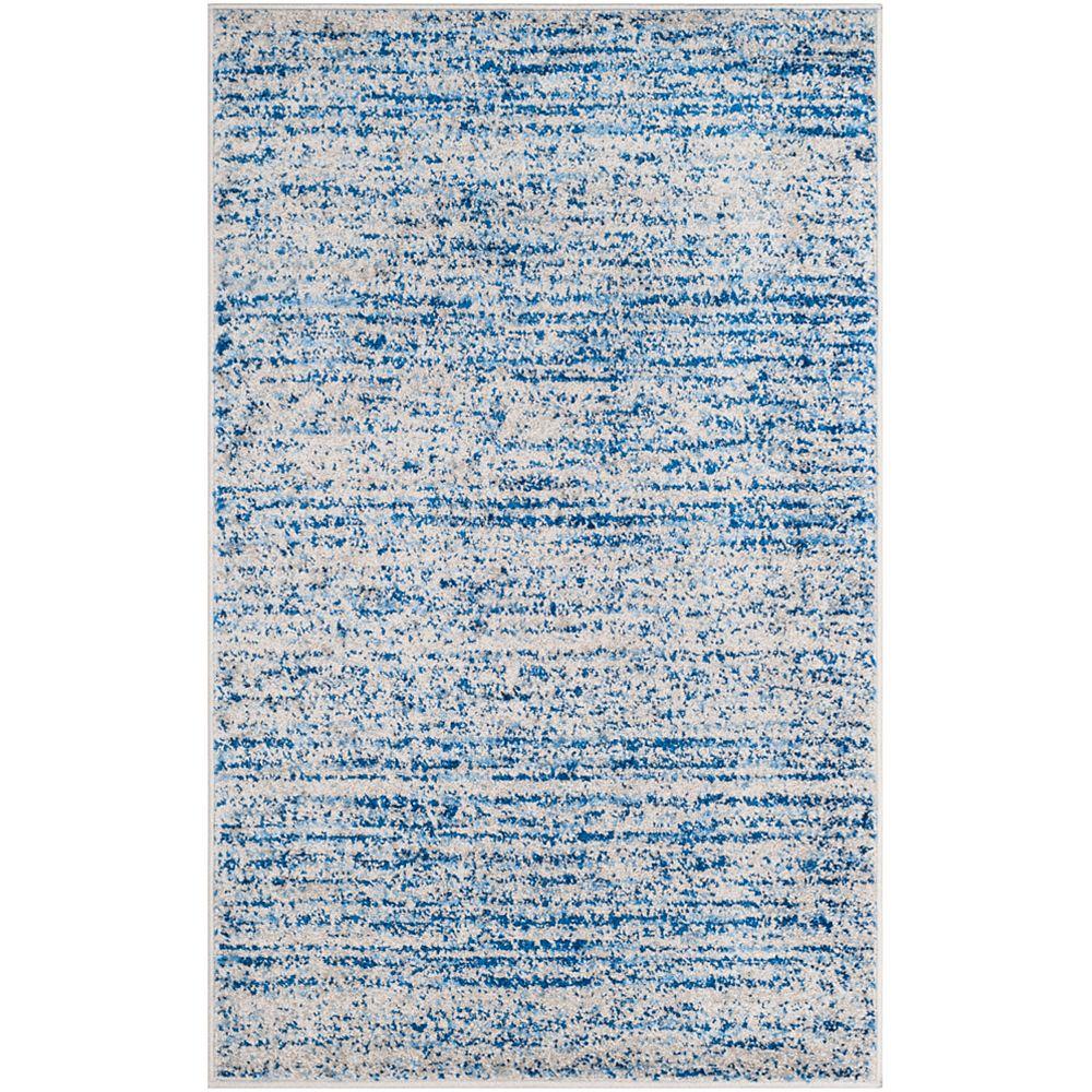 Safavieh Carpette d'intérieur, 3 pi x 5 pi, style contemporain, rectangulaire, bleu Adirondack