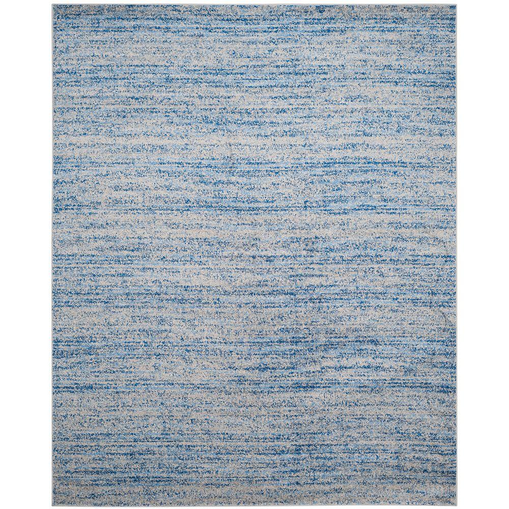 Safavieh Tapis d'intérieur, 8 pi x 10 pi, Adirondack Leonard, bleu / argent