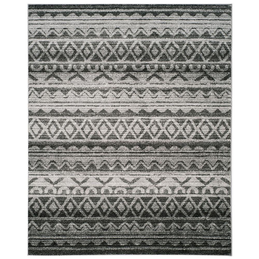 Safavieh Tapis d'intérieur, 8 pi x 10 pi, Adirondack Caleb, ivoire / gris charbon