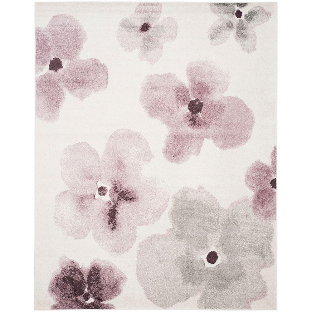 Safavieh Tapis d'intérieur, 8 pi x 10 pi, Adirondack Carol, ivoire / violet