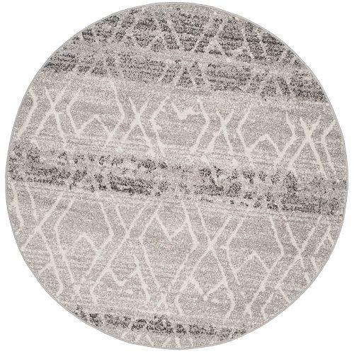 Safavieh Adirondack Elfrid Silver / Ivory 6 ft. x 6 ft. Indoor Round Area Rug