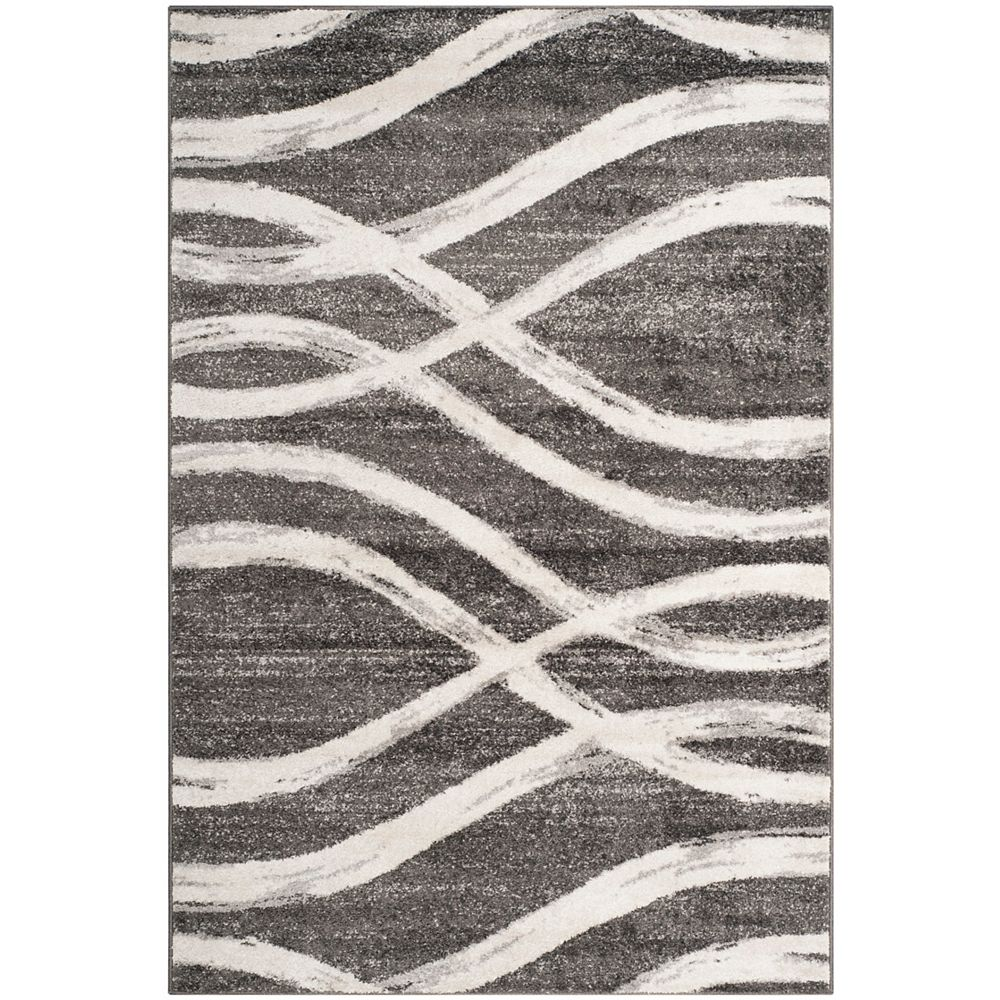 Safavieh Adirondack Gerald Charcoal / Ivory 5 ft. 1-inch x 7 ft. 6-inch Indoor Area Rug