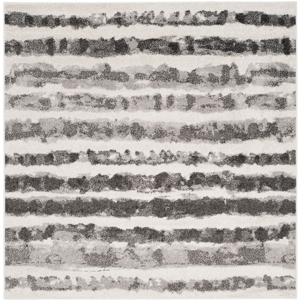 Safavieh Adirondack Callista Ivory / Charcoal 6 ft. x 6 ft. Indoor Square Area Rug