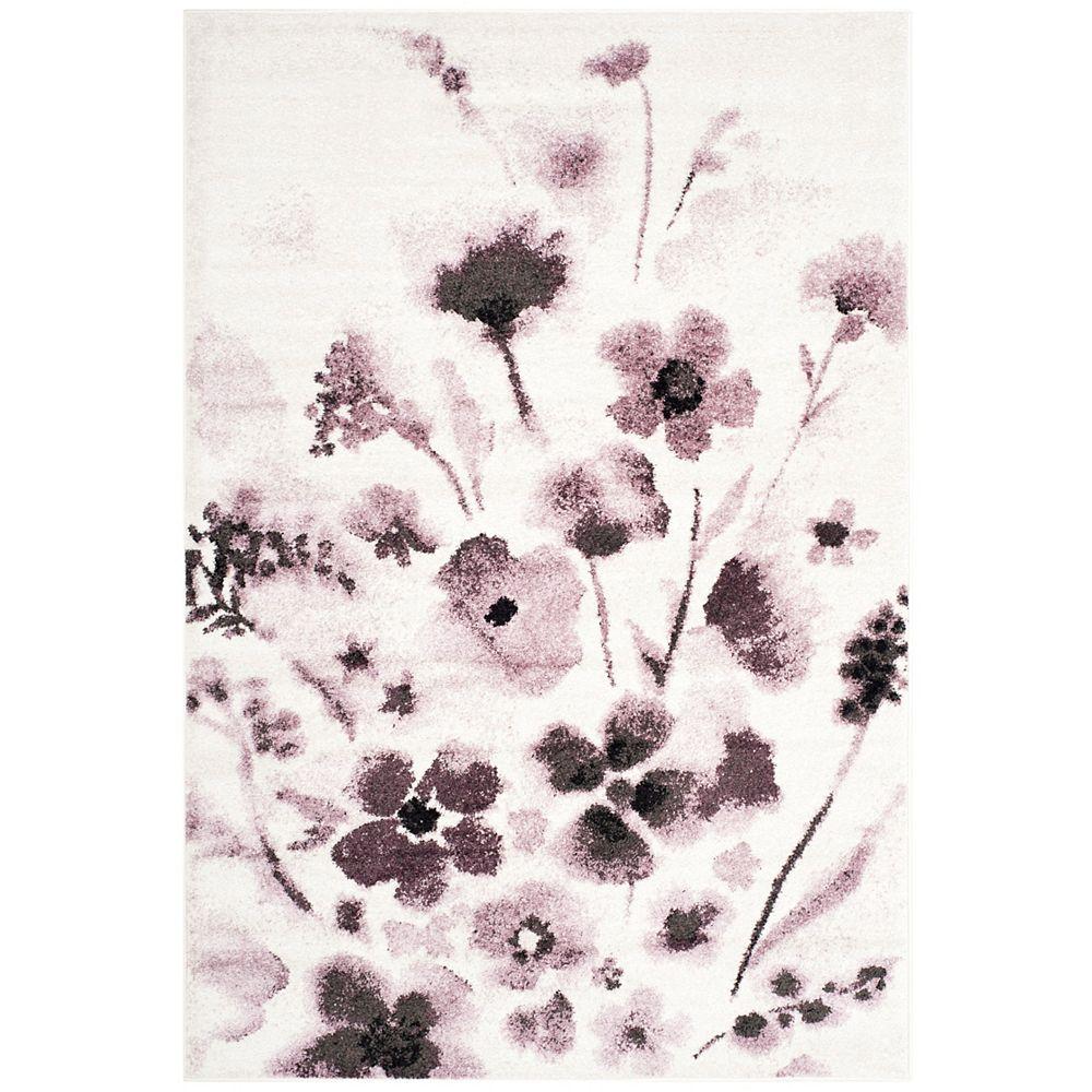 Safavieh Adirondack Timothy Ivory / Purple 5 ft. 1 inch x 7 ft. 6 inch Indoor Area Rug