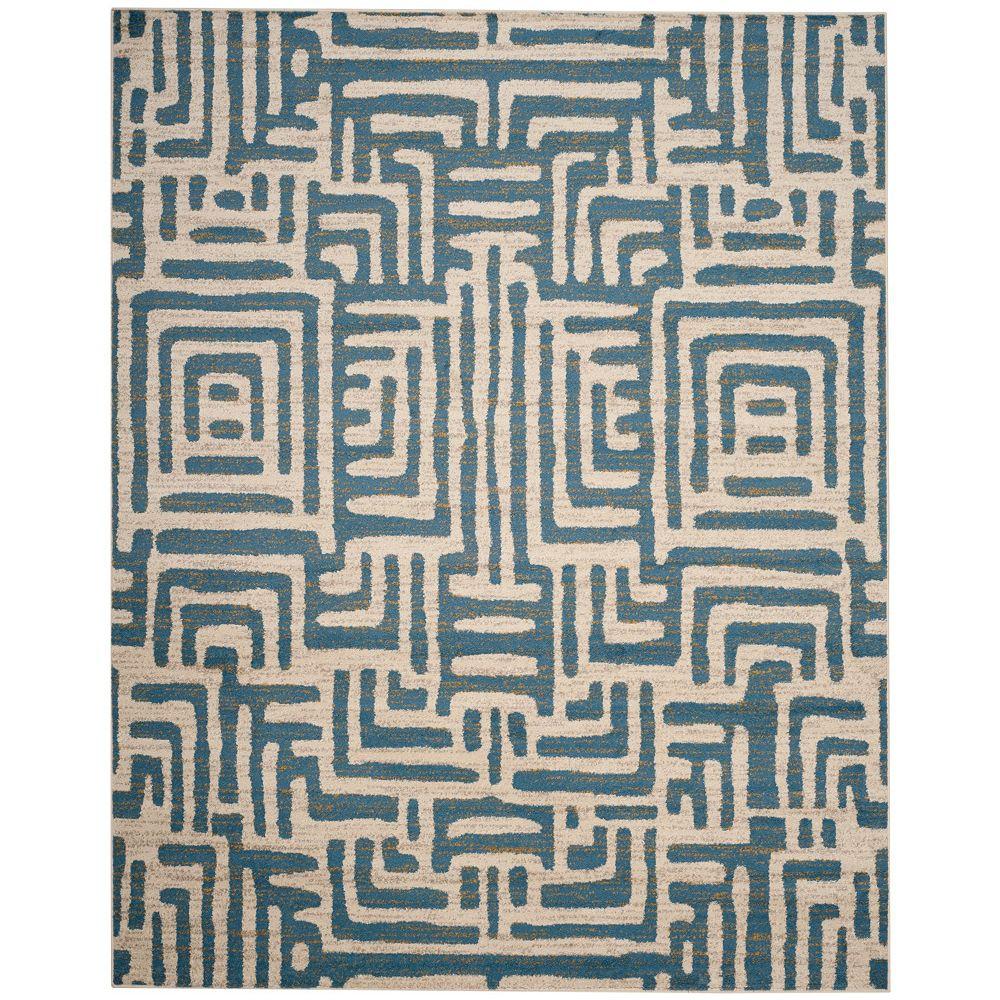 Safavieh Amsterdam Francesca Ivory / Light Blue 8 ft. x 10 ft. Indoor Area Rug