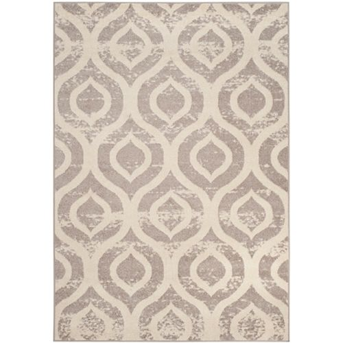 Safavieh Amsterdam Randal Ivory / Mauve 5 ft. 1 inch x 7 ft. 6 inch Indoor Area Rug
