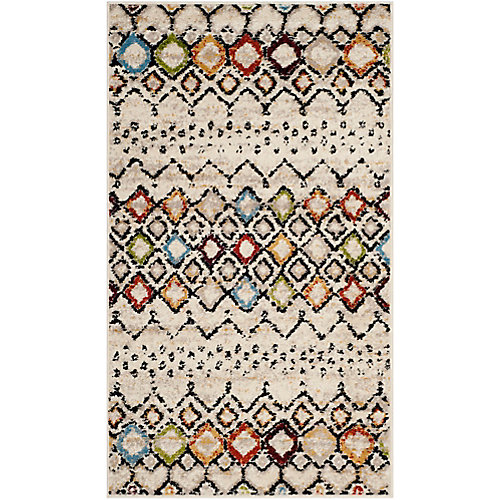 Amsterdam Susan Ivory / Multi-Colour 3 ft. x 5 ft. Indoor Area Rug