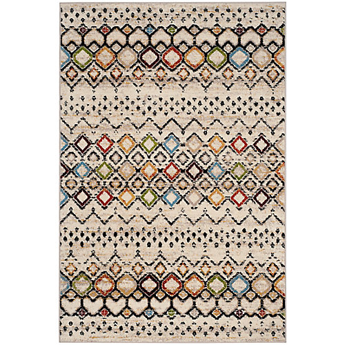Amsterdam Susan Ivory / Multi-Colour 5 ft. 1-inch x 7 ft. 6-inch Indoor Area Rug