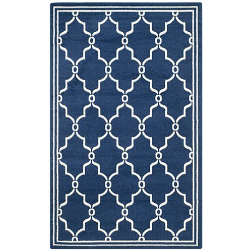 Amherst Katie Navy / Beige 4 ft. x 6 ft. Indoor/Outdoor Area Rug