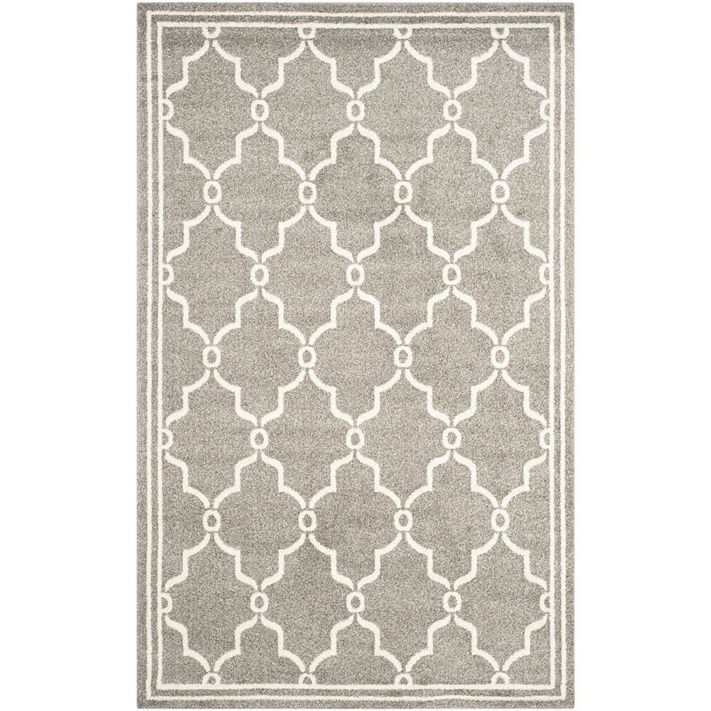 Safavieh Amherst Katie Dark Grey / Beige 6 ft. x 9 ft. Indoor/Outdoor Area Rug