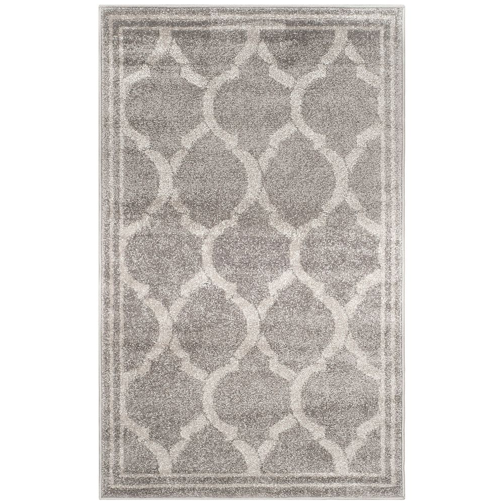 Safavieh Amherst Javier Grey / Light Grey 2 ft. 6 inch x 4 ft. Indoor/Outdoor Area Rug