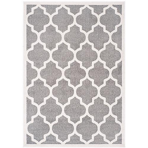 Carpette d'intérieur/extérieur AmherstBradford 5x 8pi, gris foncé et beige