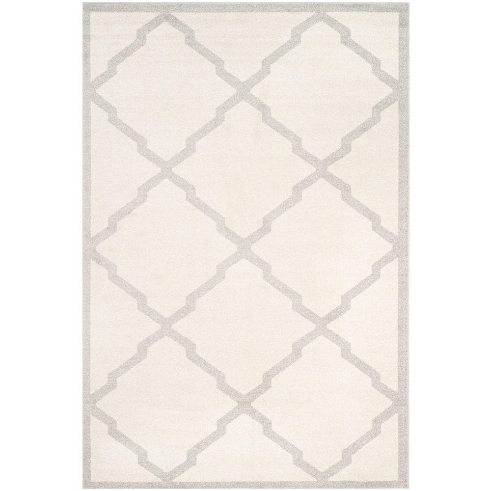 Safavieh Tapis d'intérieur/extérieur, 6 pi x 9 pi, Amherst Dina, beige / gris clair