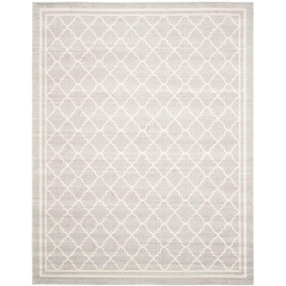 Safavieh Carpette d'intérieur/extérieur Amherst Blanche, 8 pi x 10 pi, gris pâle/beige