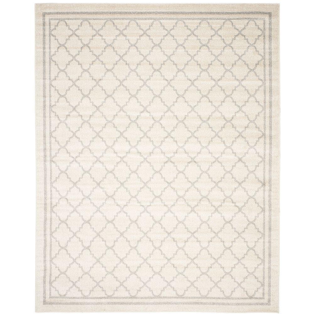 Safavieh Carpette intérieur/extérieur Amherst Blanche, 8 pi x 10 pi, beige/gris pâle
