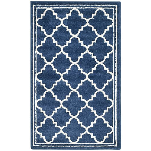 Amherst Blanche Navy / Beige 3 ft. x 5 ft. Indoor/Outdoor Area Rug