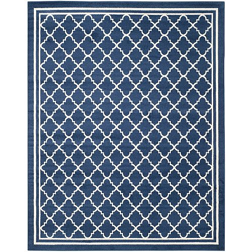 Amherst Blanche Navy / Beige 8 ft. x 10 ft. Indoor/Outdoor Area Rug
