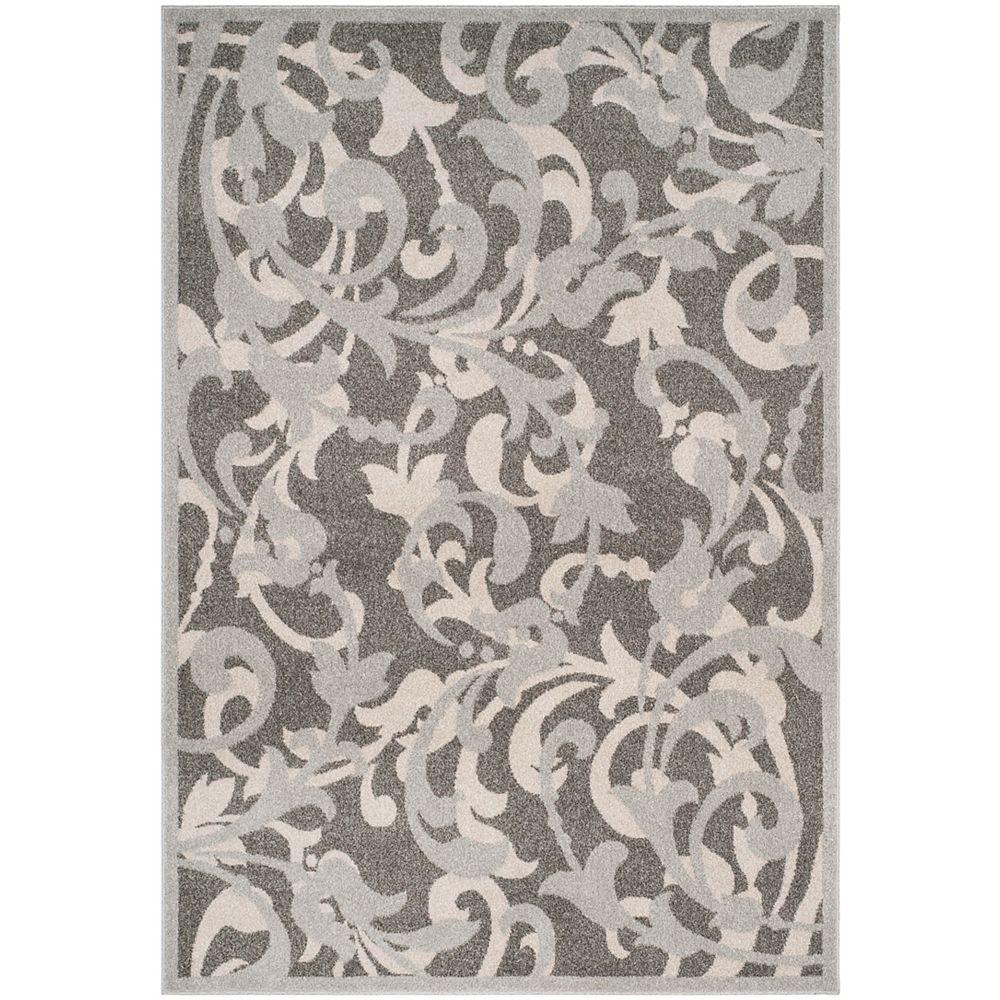 Safavieh Tapis d'intérieur/extérieur, 5 pi x 8 pi, Amherst Elaine, gris / gris clair