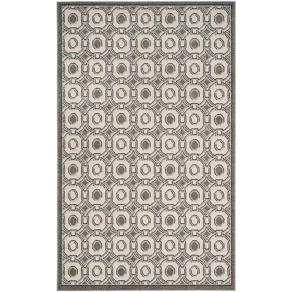 Safavieh Amherst Kyle Ivory / Grey 5 ft. x 8 ft. Indoor/Outdoor Area Rug