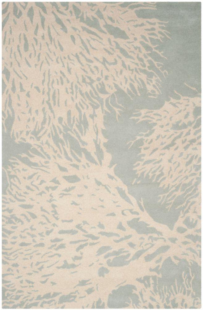 Tapis d'intérieur, 4 pi x 6 pi, Bella Marvin, gris / ivoire